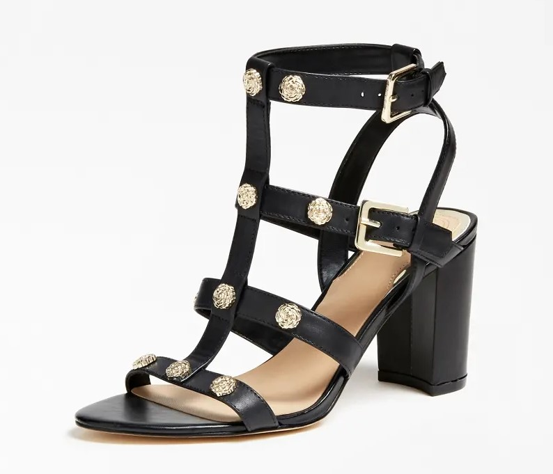 SANDALES MAGALE CUIR VERITABLE Guess Noir