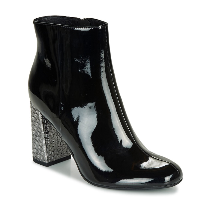 Tommy Hilfiger ELEVATED PATENT HIGH HEEL BOOT Noir