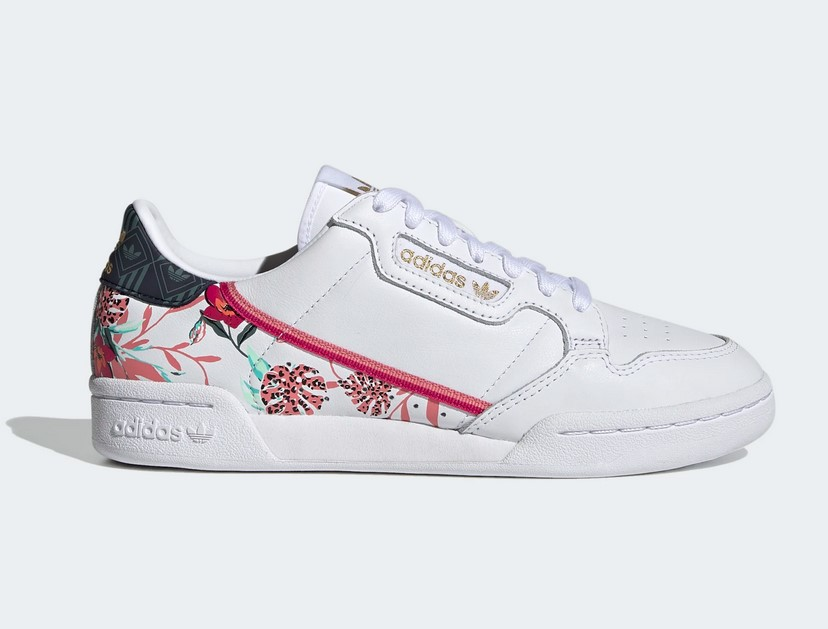 Adidas Originals CONTINENTAL 80 W Baskets Blanc/Fleurs