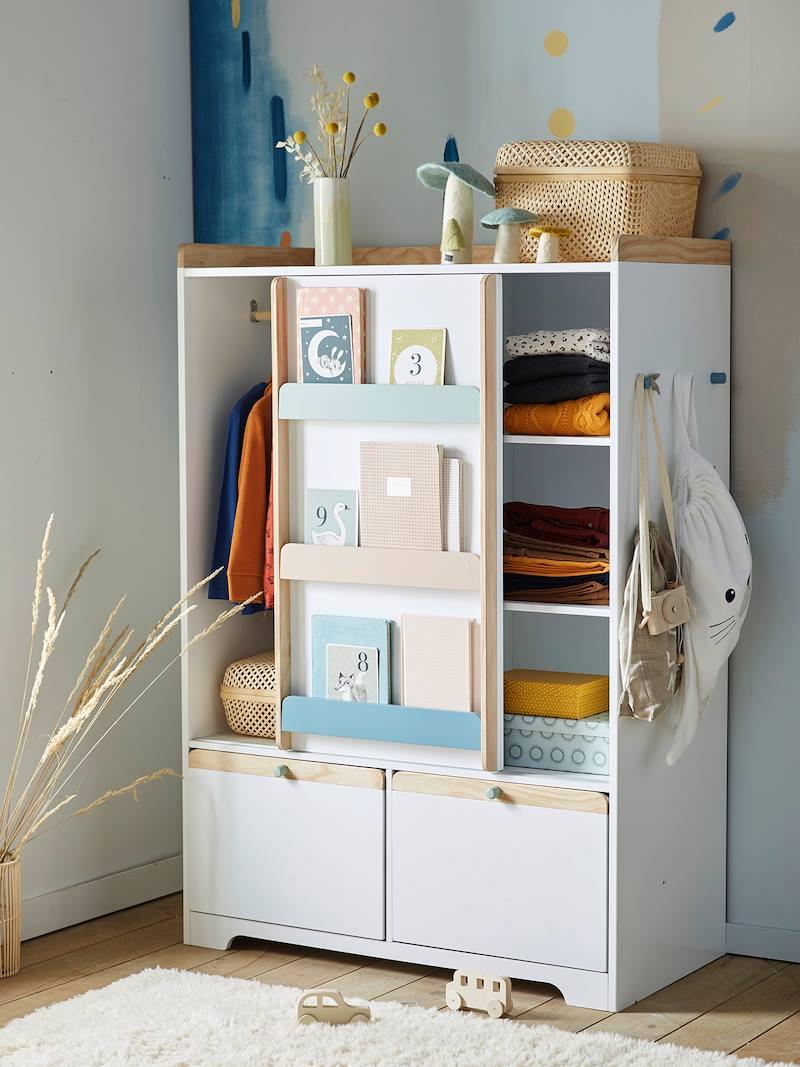 armoire ligne abc blanc bois pas cher  armoire enfant