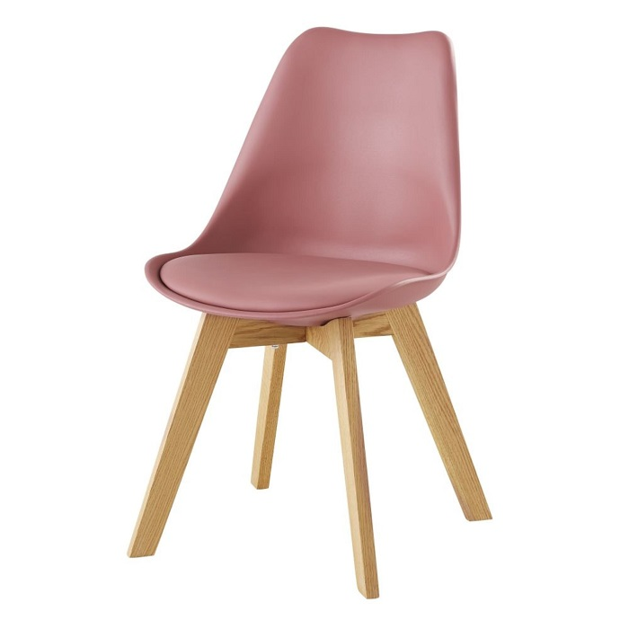 Chaises style scandinave Ice rose et chêne Chaises Maisons