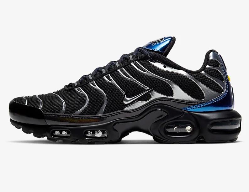 Nike Air Max Plus Noir/Bleu royal profond/Gris froid métallique ...