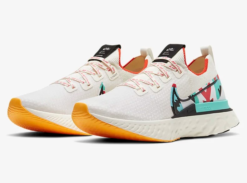 Nike React Infinity Run Flyknit A.I.R. Voile/Rouge piste/Orange laser/Noir