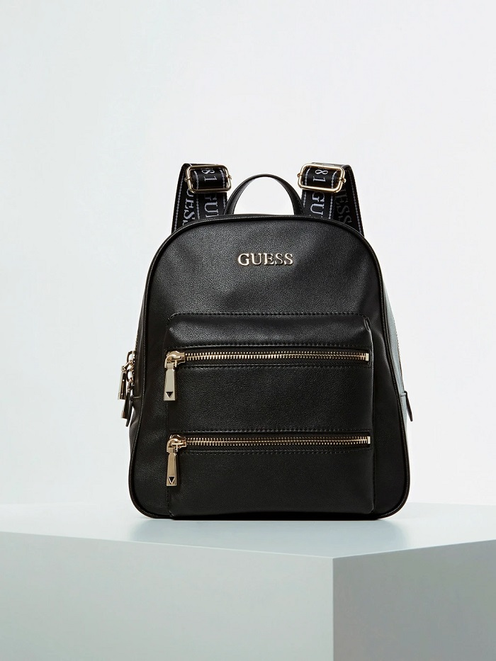 GRAND SAC-À-DOS CALEY POCHE FRONTALE Guess Noir
