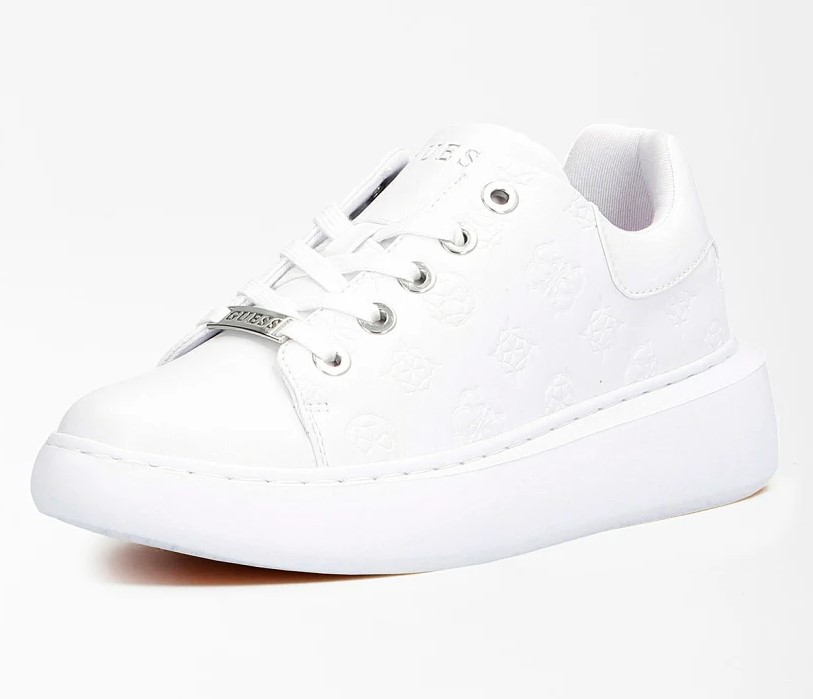 SNEAKERS BRADLY LOGO GAUFRE Guess Blanches