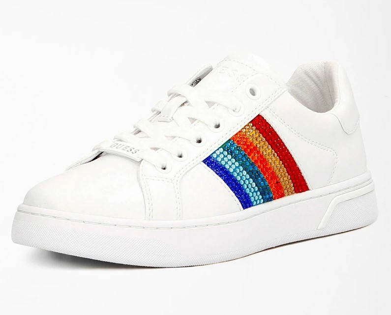 SNEAKERS ROLLIN STRASS Guess Blanches