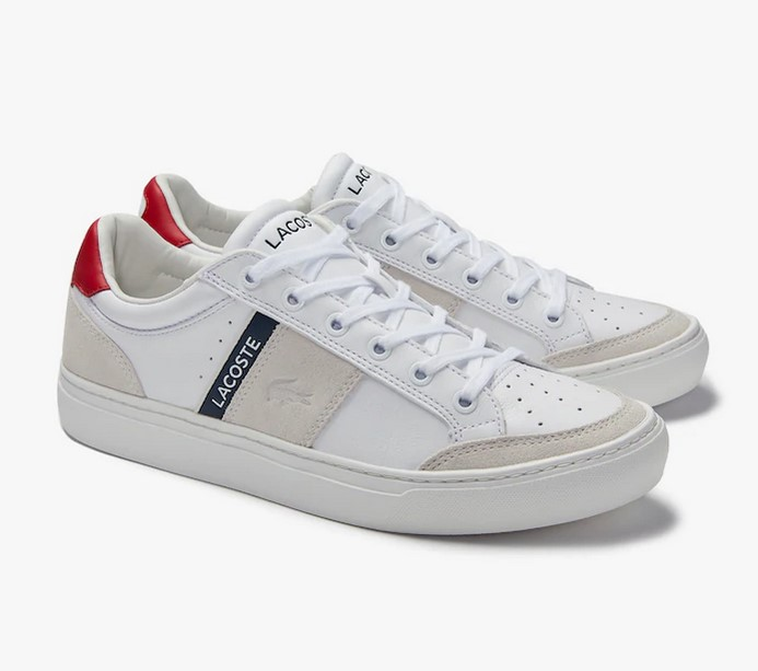 Sneakers Courtline Traditional Lacoste en cuir