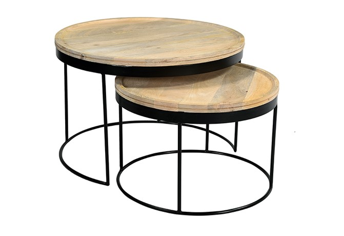 Tables Basses Gigognes Ledge Manguier Et Metal Pas Cher Table