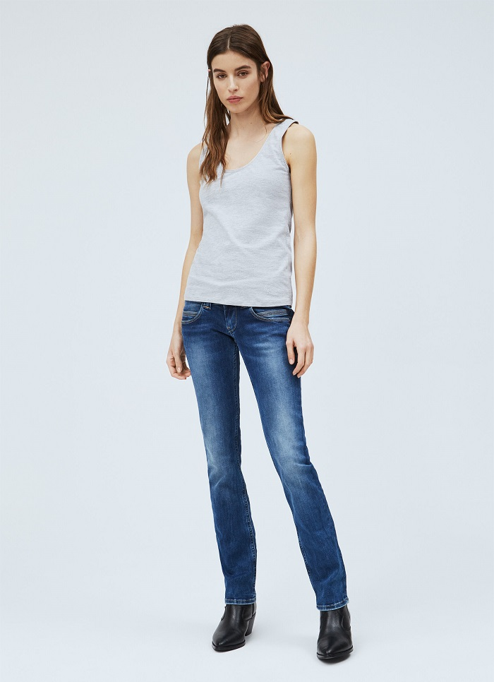 VENUS STRAIGHT FIT LOW WAIST JEANS PEPE JEANS