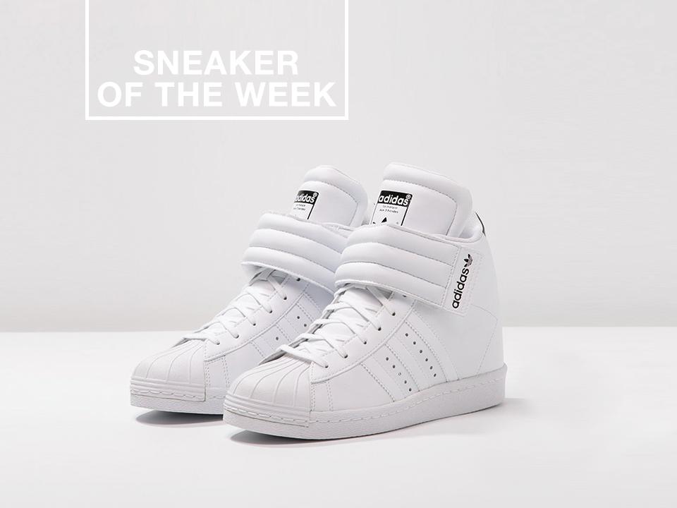 Adidas Originals SUPERSTAR UP Baskets montantes white/core black ...