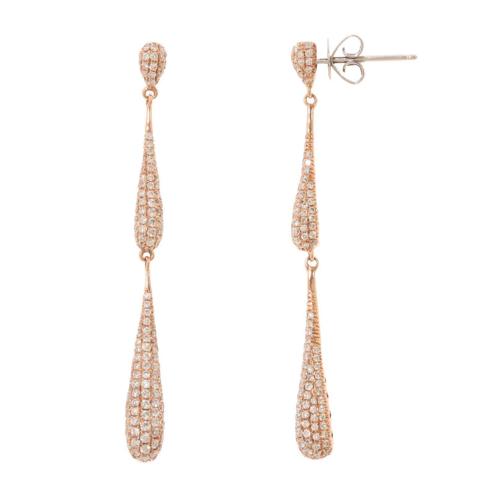atelier du diamant boucles d 39 oreilles goutte de diamant en. Black Bedroom Furniture Sets. Home Design Ideas