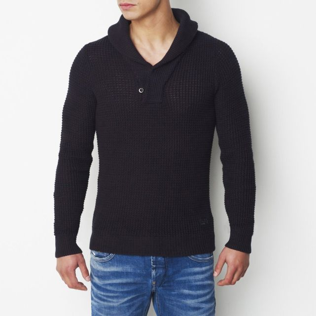 Pull col châle pur coton G Star Pull Homme La Redoute