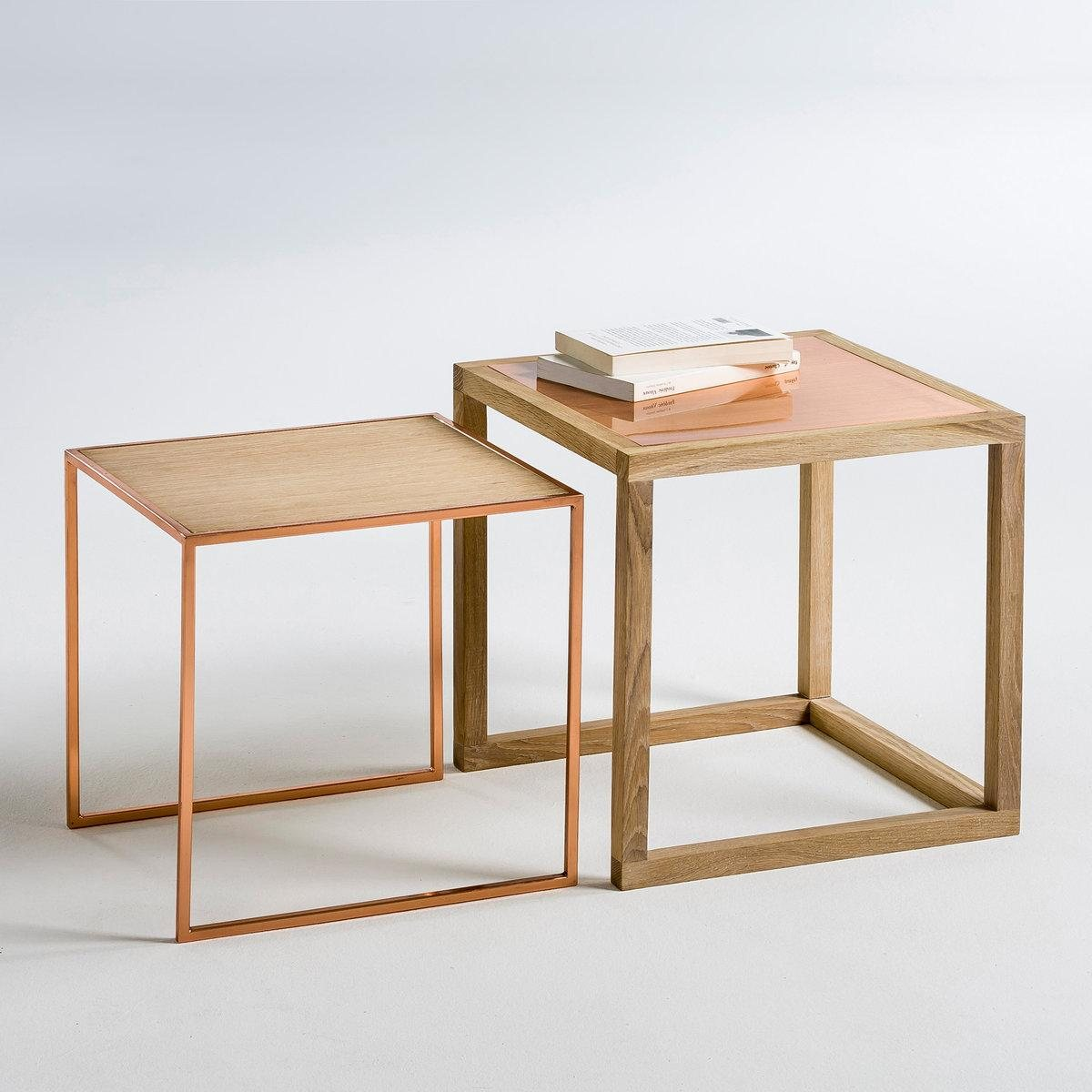 Tables basses gigognes elori la redoute interieurs table for Table filaire