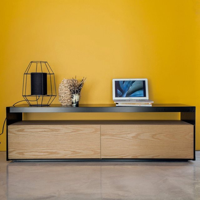 meuble tv enfilade ectos am pm meuble tv am pm ventes pas. Black Bedroom Furniture Sets. Home Design Ideas