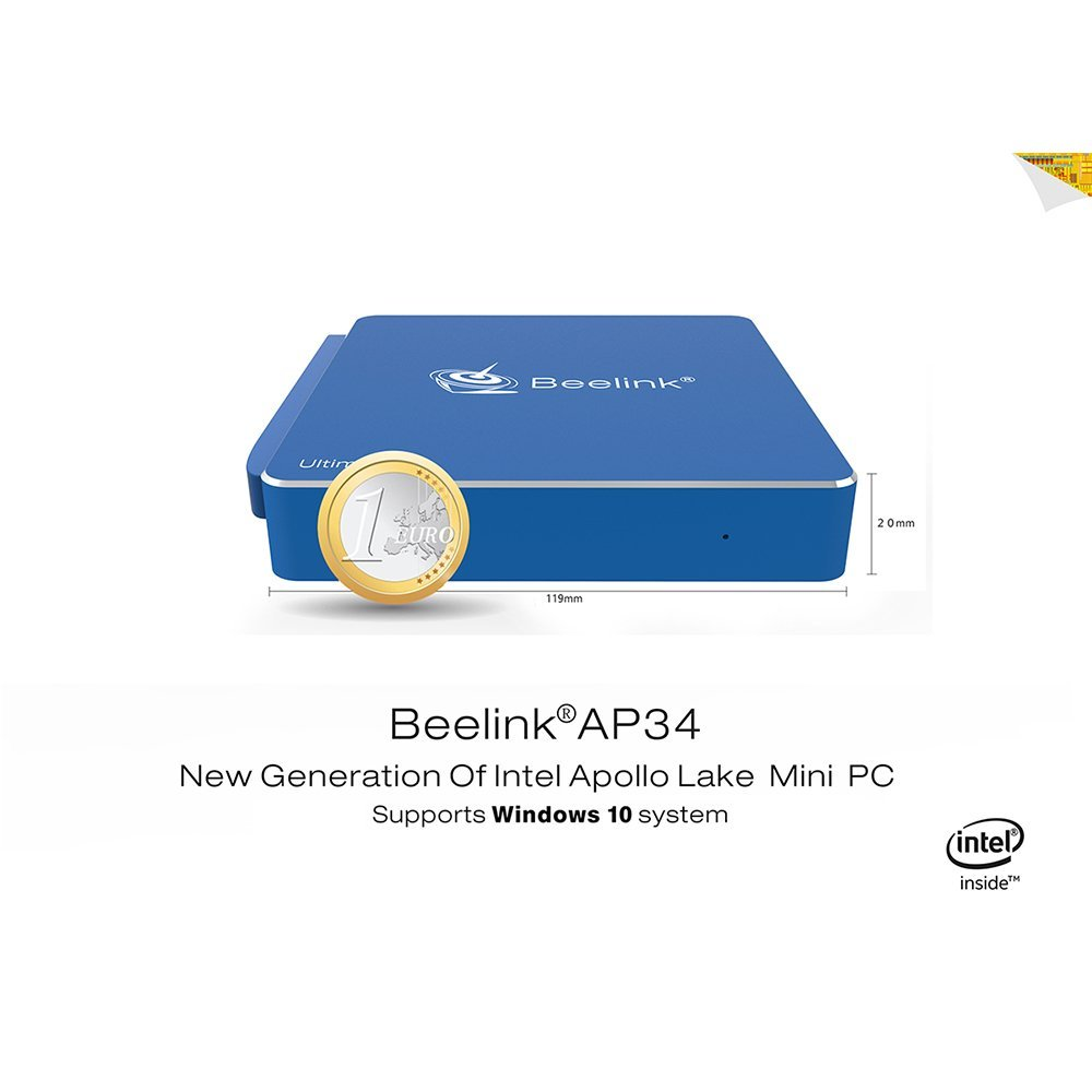 Beelink AP34 Mini PC Windows 10,DDR3 8Go 64Go