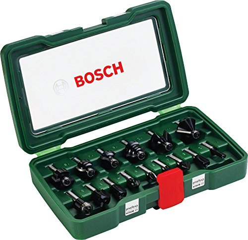 Bosch - Coffret de 15 fraises au carbure Queue 8 mm