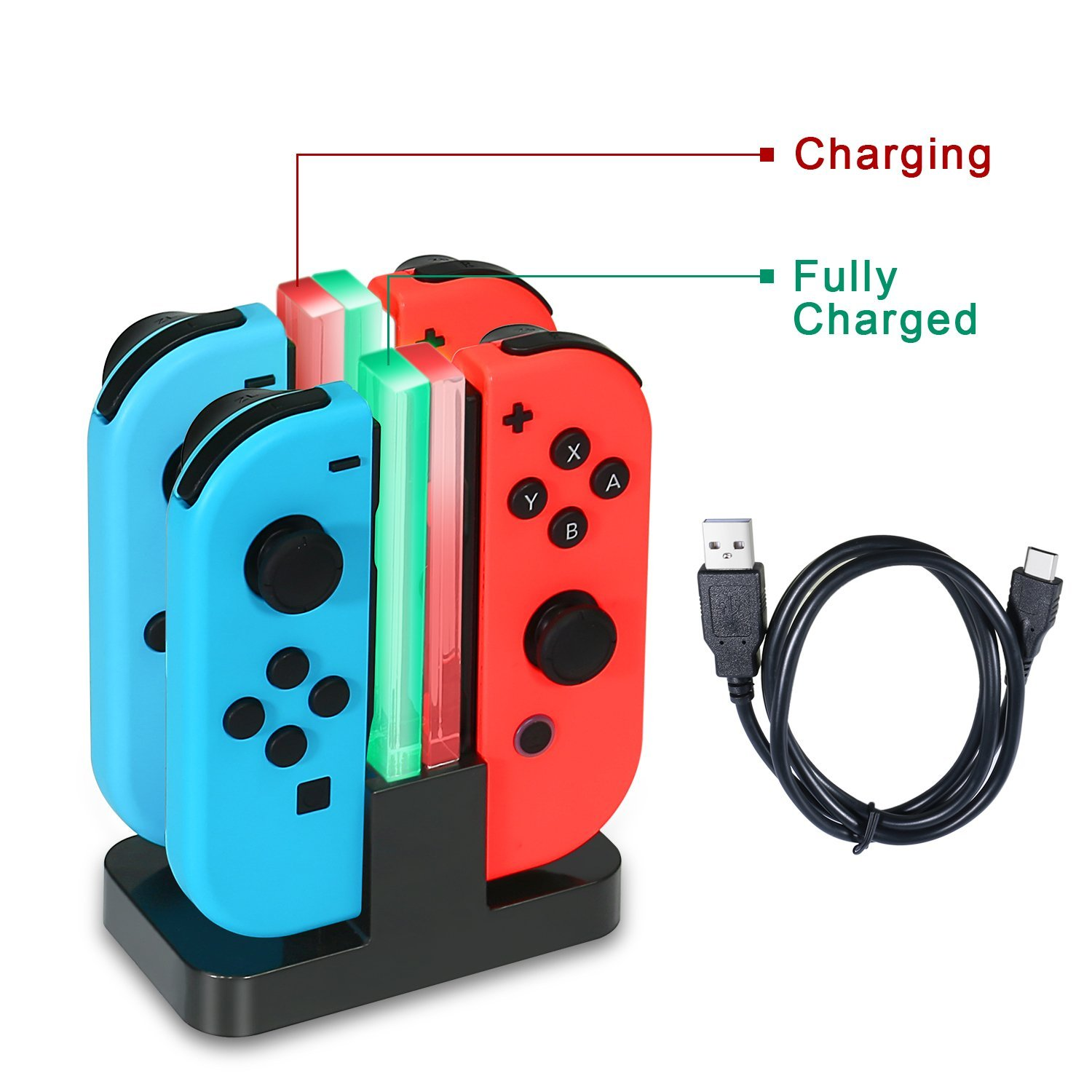 #10: KINGTOP 4 en 1 Chargeur Nintendo Switch