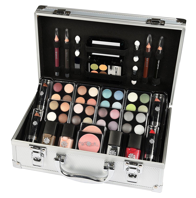 mallette coffret maquillage schmink koffer pas cher en aluminium 51 pi ces maquillage amazon. Black Bedroom Furniture Sets. Home Design Ideas