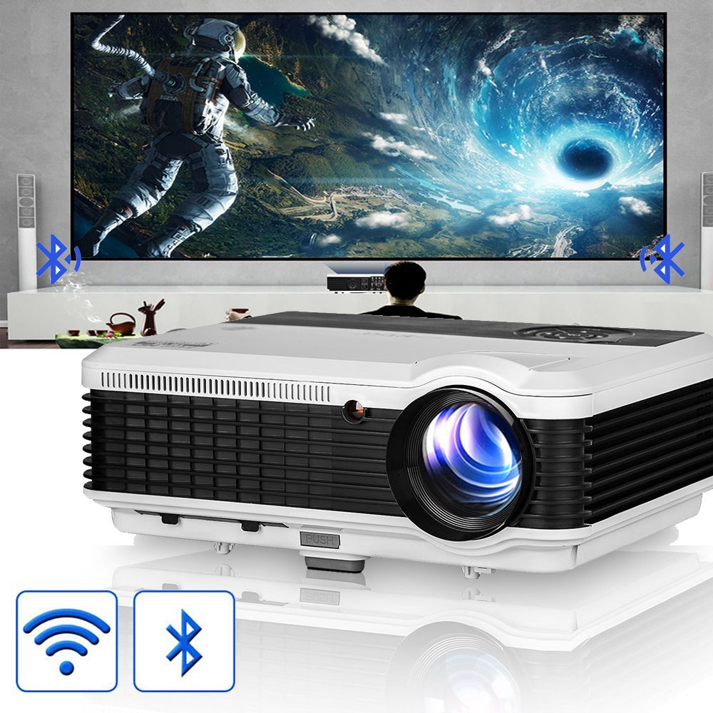 wxga hd led smart projecteur vid o wifi video projecteur pas cher amazon ventes pas. Black Bedroom Furniture Sets. Home Design Ideas