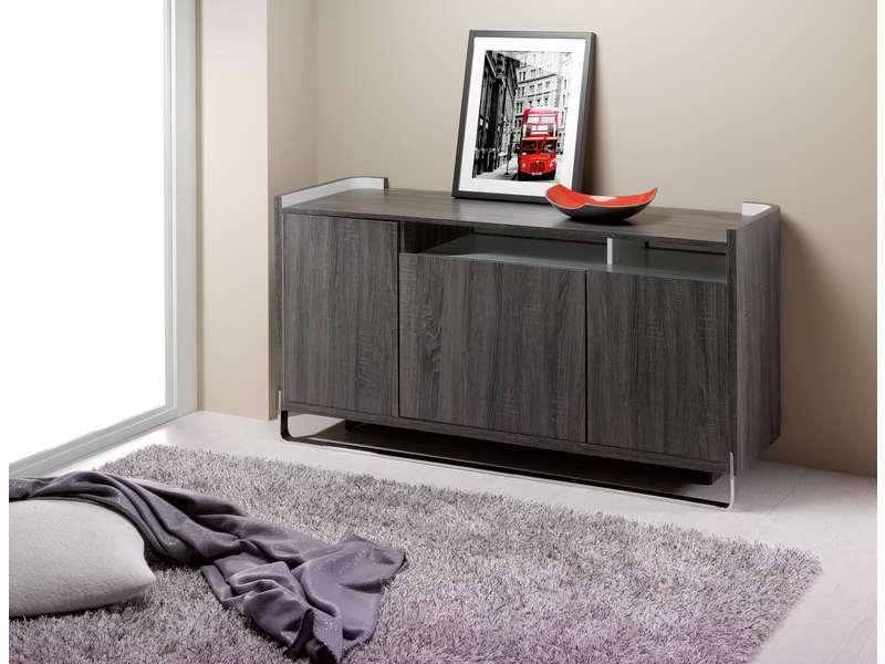 buffet bicolore curve buffet conforama pas cher ventes pas. Black Bedroom Furniture Sets. Home Design Ideas
