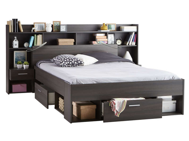 lit 140x190 200 cm chicago lit conforama pas cher. Black Bedroom Furniture Sets. Home Design Ideas