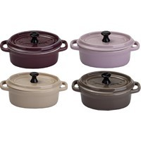 Cocotte ovale ESSENTIELB Set chic 4 oval