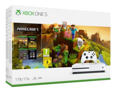 Console Xbox One S 1 To + Minecraft à 199 €