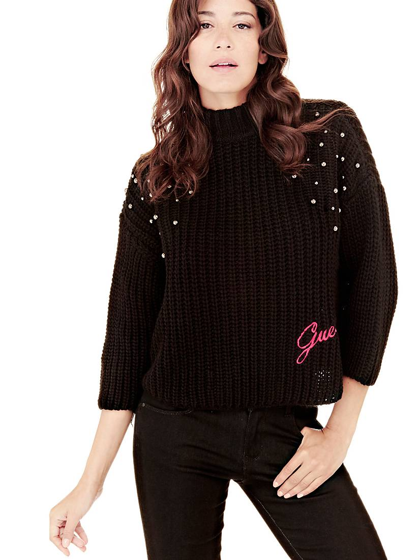 PULL PERLES Guess pas cher - Pull Femme Guess