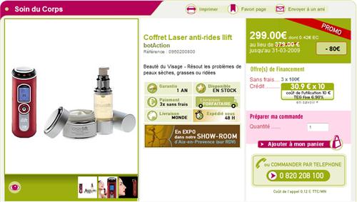 Coffret laser anti-rides Ilift sur Bien-etre-avenue.com