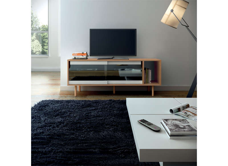 meuble tv vitr ch ne dann meuble tv achatdesign ventes pas. Black Bedroom Furniture Sets. Home Design Ideas