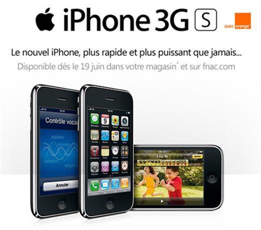 Le nouvel iPhone 3G S plus rapide et plus puissant arrive à la FNAC