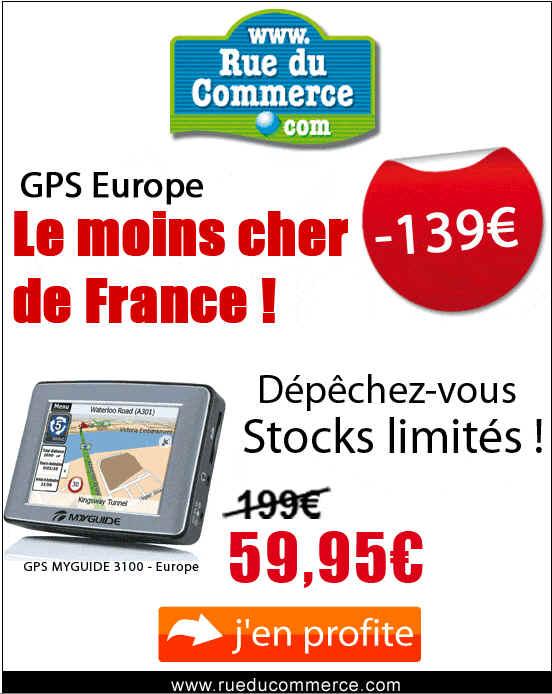 GPS MYGUIDE 3100 le Moins Cher de France 59.95 Eur Rue Du Commerce