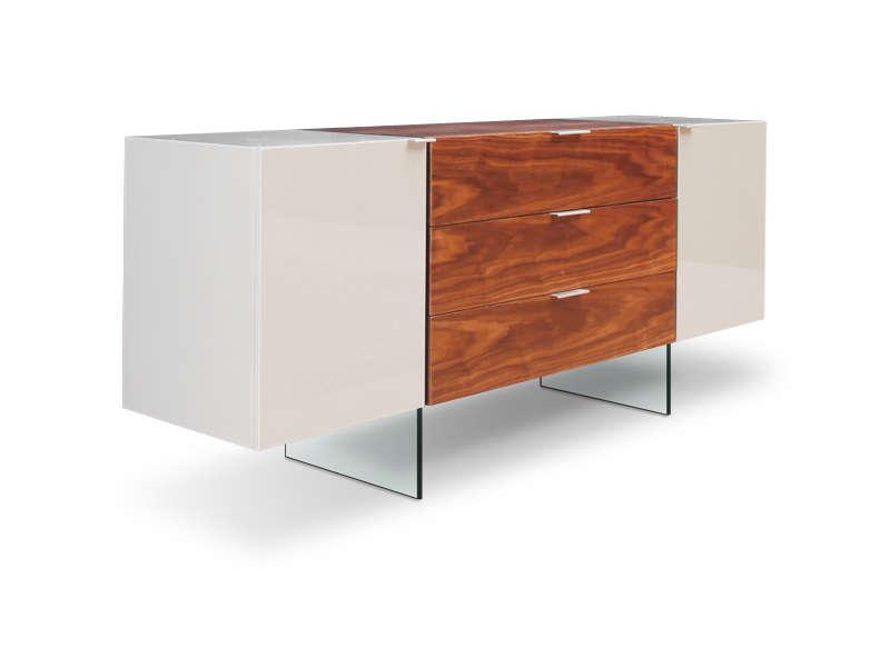 buffet en bois gaya avec placage noyer bicolore buffet achatdesign ventes pas. Black Bedroom Furniture Sets. Home Design Ideas