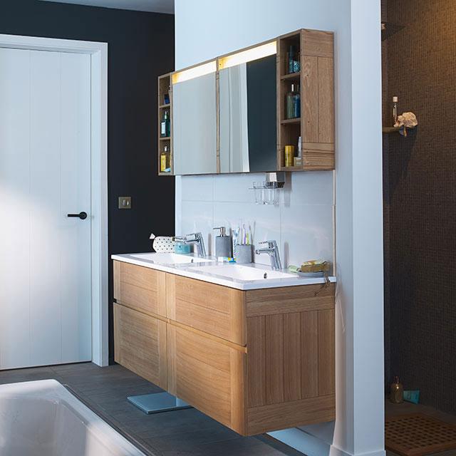 Meuble de salle de bains fr ne essential ii meuble de for Meuble salle bain castorama