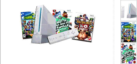 console wii nintendo wii sports 3 jeux 259 euros carrefour online. Black Bedroom Furniture Sets. Home Design Ideas
