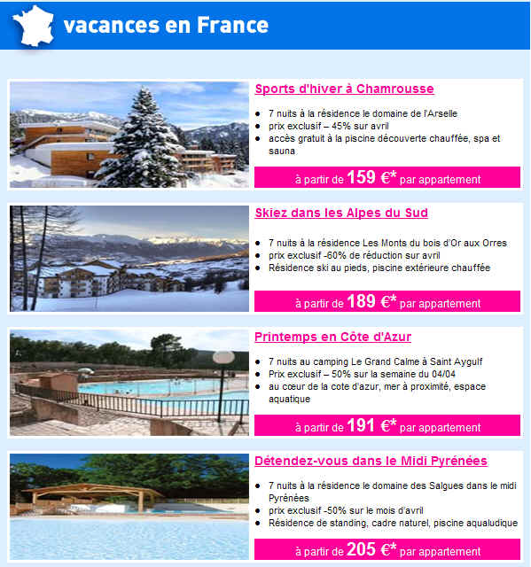 Lastminute derni re minute jusqu 39 50 de reduction for Hotel pas cher en france