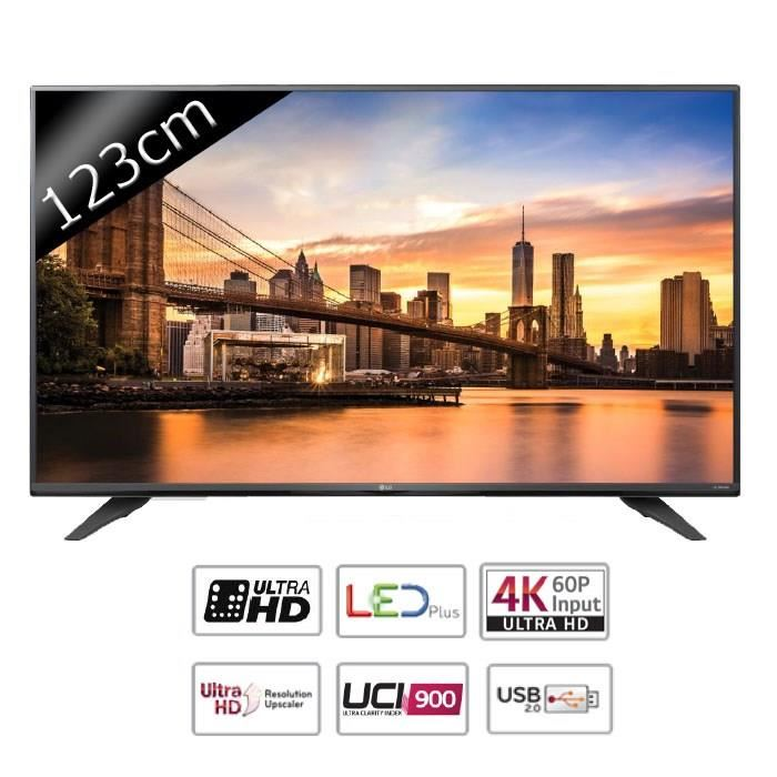 lg 49uf671v tv led ultra hd 4k 123cm pas cher t l viseur 4k cdiscount soldes cdiscount top. Black Bedroom Furniture Sets. Home Design Ideas