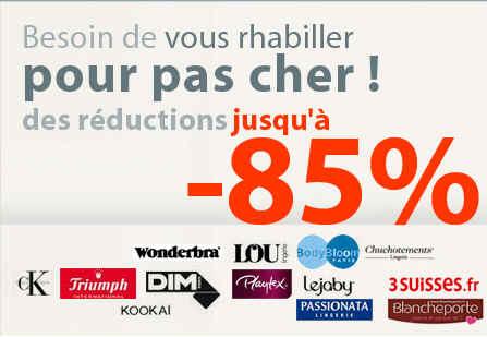 Excedence Destockage Lingerie - Reduction -75% - Promo Excedence