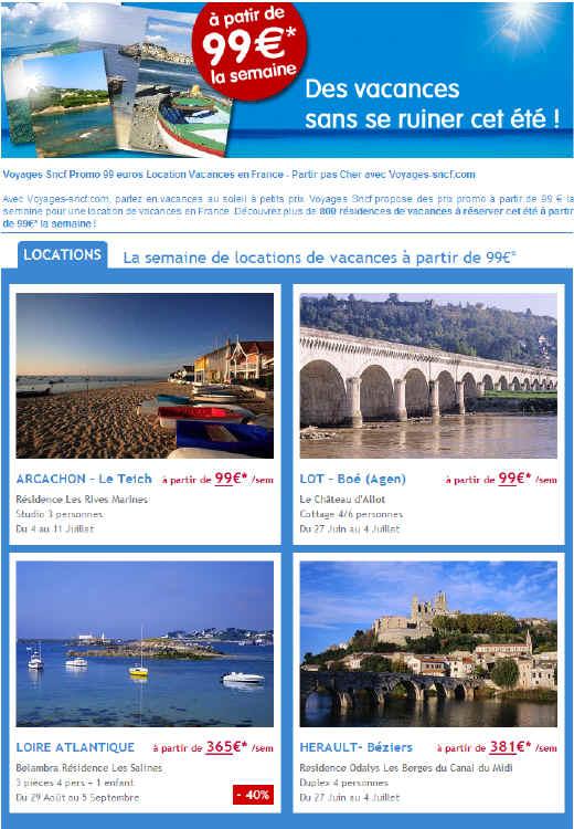 Location vacances en France
