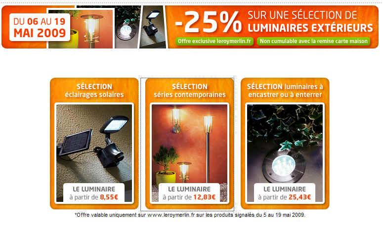 Leroy Merlin Promotion Luminaires Extérieurs Jusquà 25 De