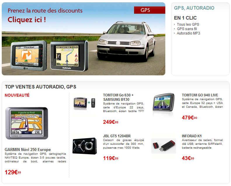 Top ventes GPS TomTom - Garmin à partir de 129.90 euros Mistergooddeal