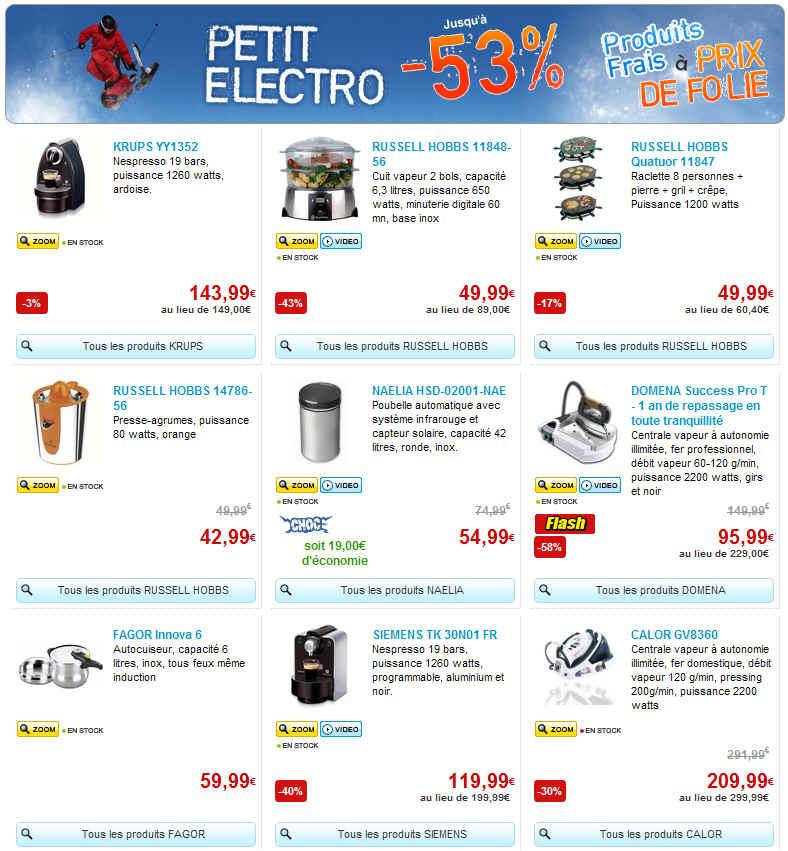 mistergooddeal promotion 53 sur le petit electromenager grandes marques ventes pas. Black Bedroom Furniture Sets. Home Design Ideas