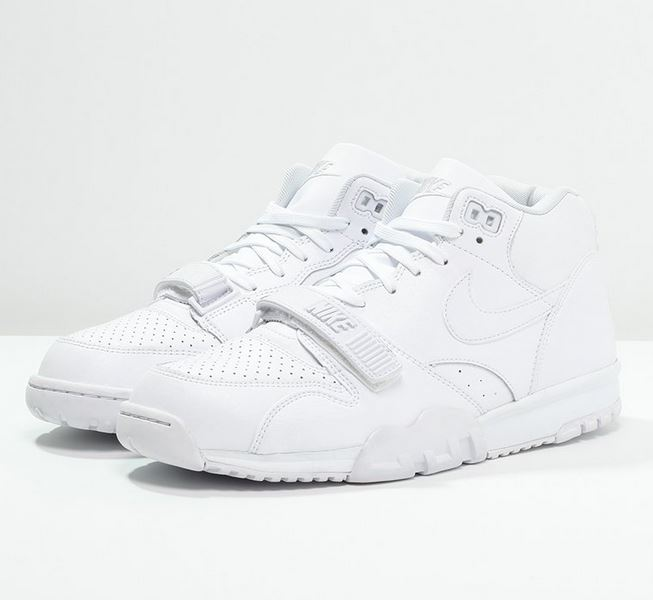 Nike Sportswear AIR TRAINER 1 MID Baskets montantes white/pure platinum