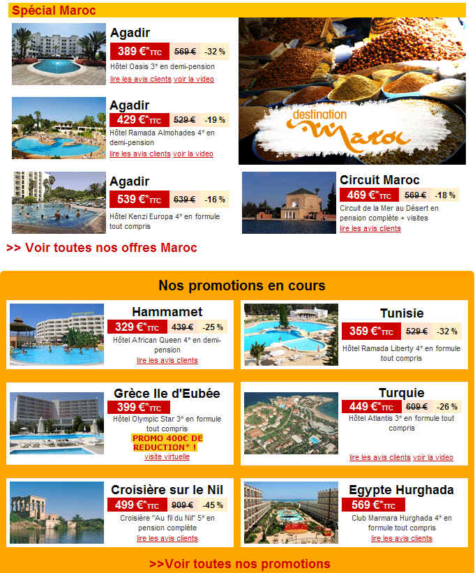 Marmara promotion s jour au maroc jusqu 39 32 de reduction ventes pas c - Marmara ventes flash ...