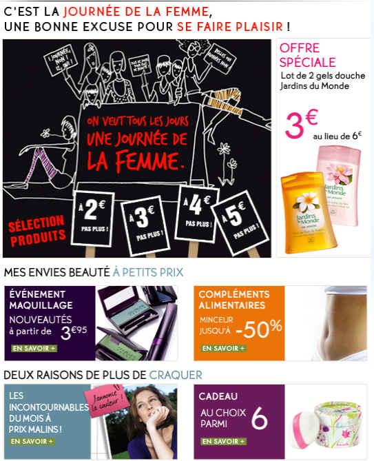 Yves Rocher Promotion prix de 2 à 5 Euros Produits de Beauté