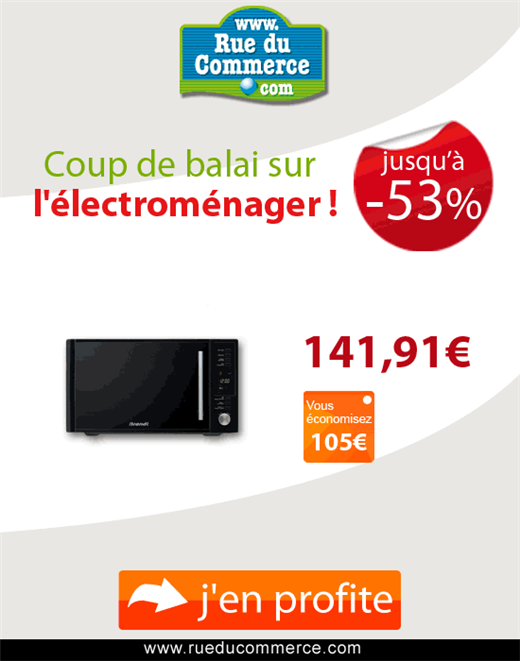 Vente flash electromenager jusqu 39 53 de r duction sur rueducommerce c - Vente flash electromenager discount ...