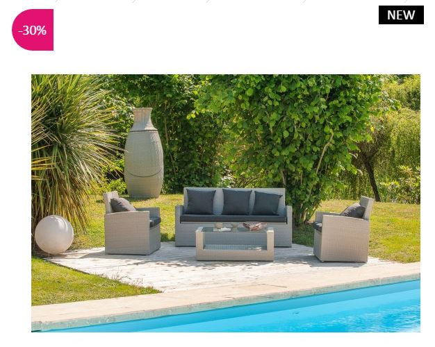 Salon de jardin design imola atylia salon de jardin for Salon de jardin pas cher amazone