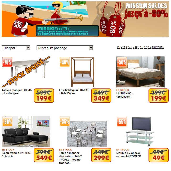 Soldes vente unique prix cass s jusqu 39 80 canap cuir meubles vent - Www vente unique com soldes ...