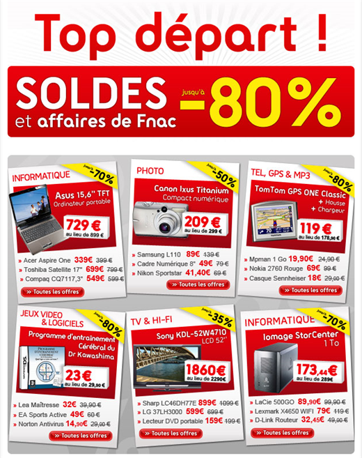 soldes fnac et affaires de fnac jusqu 39 80 de r duction sur. Black Bedroom Furniture Sets. Home Design Ideas