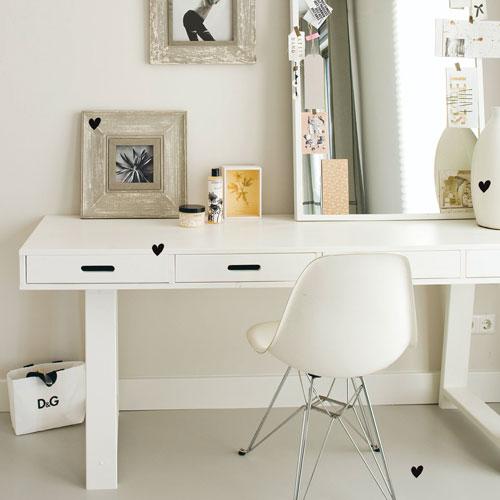 Soldes bureau decoclico bureau en pin 4 tiroirs avec tr pied ventes pas c - Bureau en pin pas cher ...